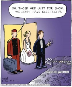 'Oh, those are just for show. We don't have electricity.'